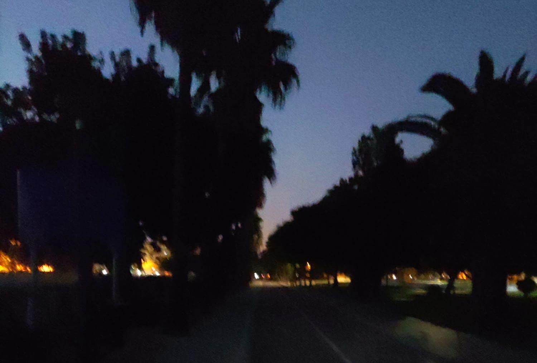 Los populares denuncian la falta de iluminación de la pradera de Chapín a primera hora de la mañana
