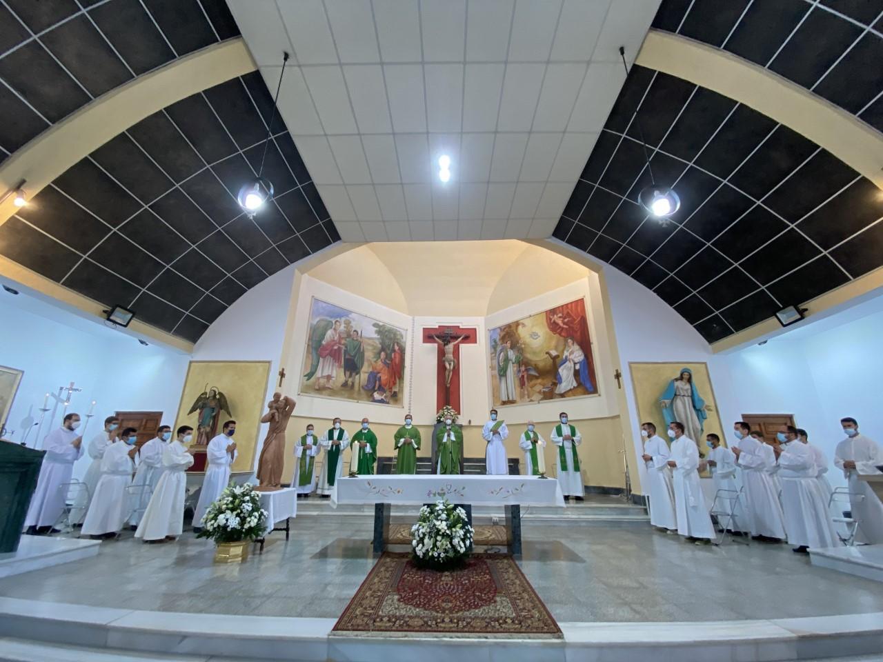 La primera misa, en San Rafael