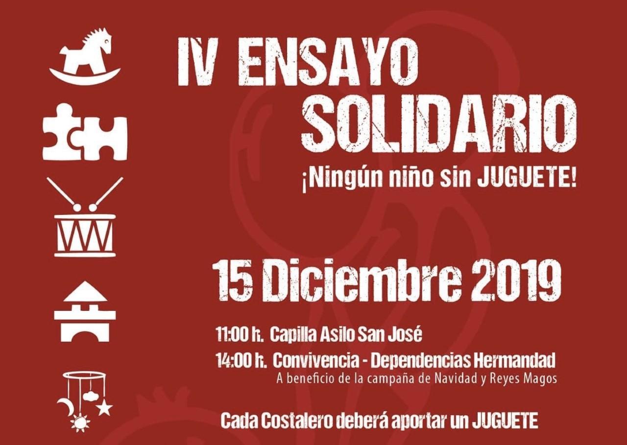 Este domingo, ensayo solidario del Prendimiento y la Exaltación