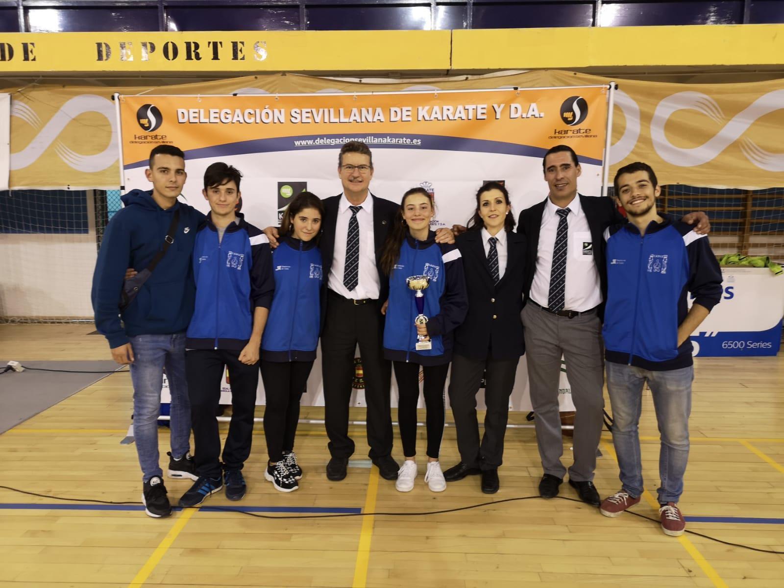 Tres alumnos del gimnasio Kime en el campeonato de Andalucía de kárate