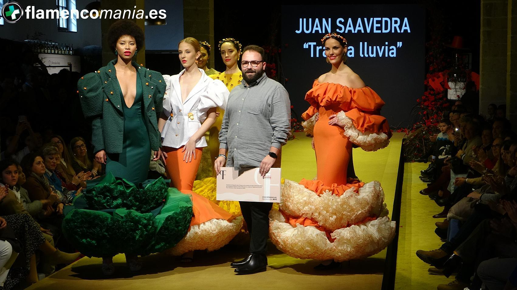 Juan Saavedra, ganador del certamen de noveles de la Pasarela Flamenca Jerez 2020