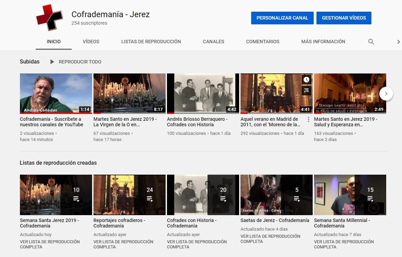 YouTube: Suscríbete a nuestros canales 'Masjerez' y 'Cofrademanía'