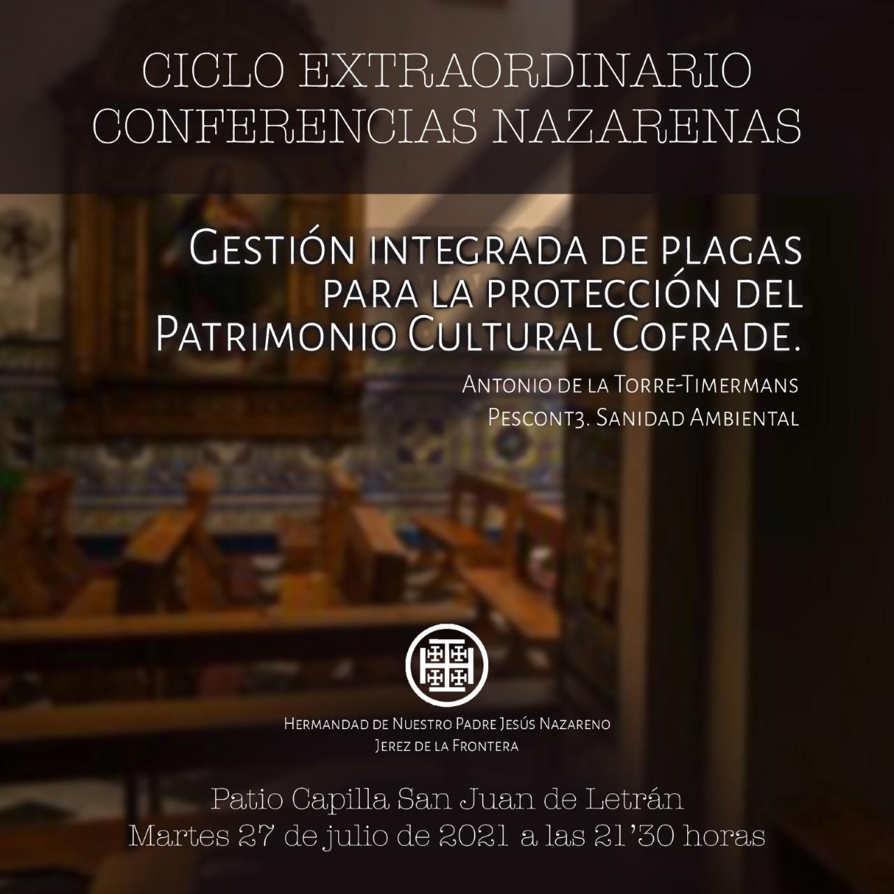 Este martes, nueva charla en San Juan de Letrán