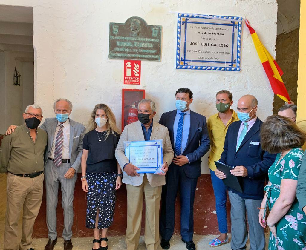 Homenaje al torero José Luis Galloso por los 50 años de su alternativa en Jerez