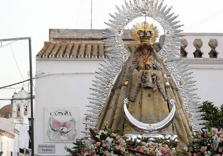 Trebujena: La Virgen de Palomares regresa a la parroquia