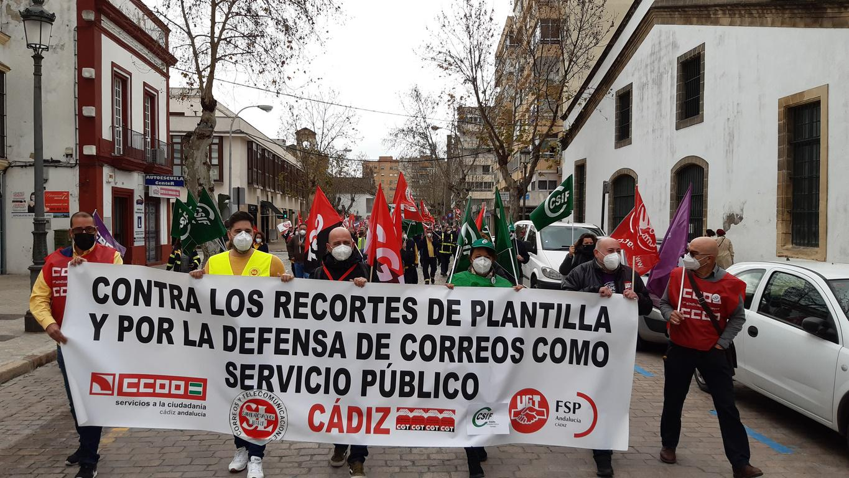 La huelga de reparto de Correos en Jerez se inicia con el 99% de seguimiento