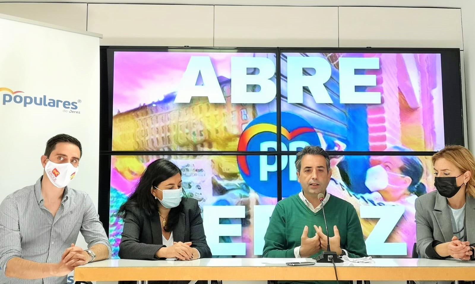 El PP anuncia la campaña 'Abre Jerez' para la reapertura de la ciudad tras el estado de alarma