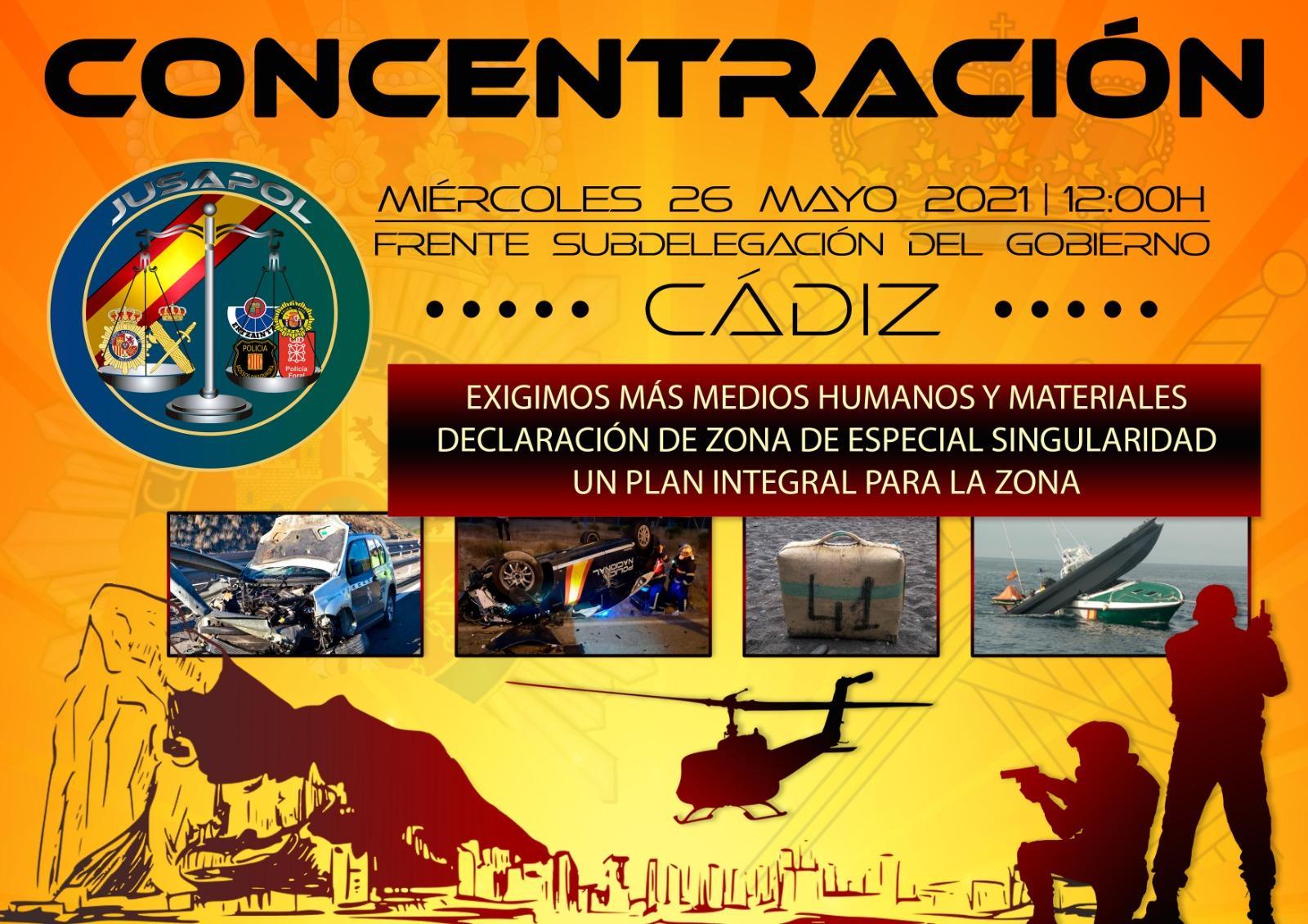 Jusapol insiste en declarar al Campo de Gibraltar Zona de Especial Singularidad por la violencia de los narcos