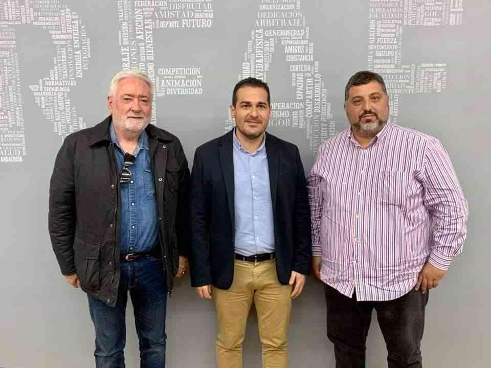 Positiva reunión de la directiva del Guadalcacín FSF con el presidente de la Federación Andaluza