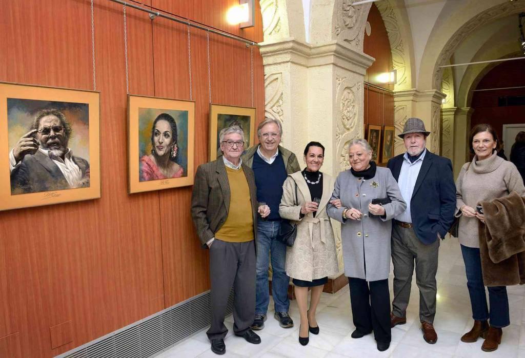 Martín Merino expone en Jerez la exposción 'Flamencos de mi Tierra'