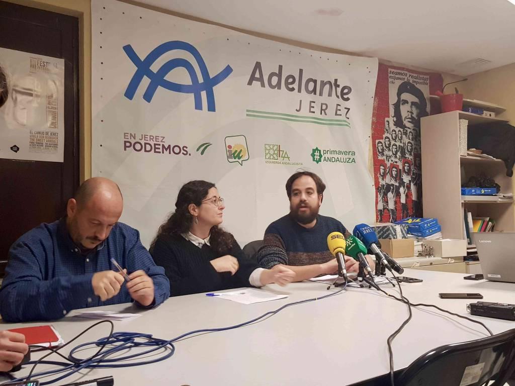 Adelante Jerez plantea sus exigencias para el apoyo a los presupuestos municipales