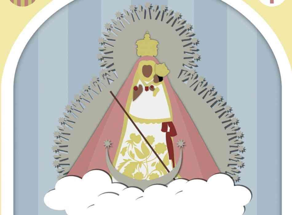 Jaime Sánchez firma el cartel de la Virgen de la Cabeza