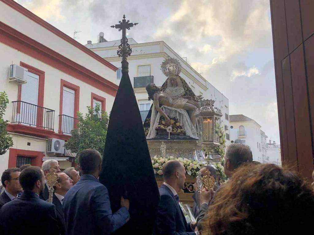 La Virgen de las Angustias presidirá el Vía Crucis de las Cofradías de Jerez
