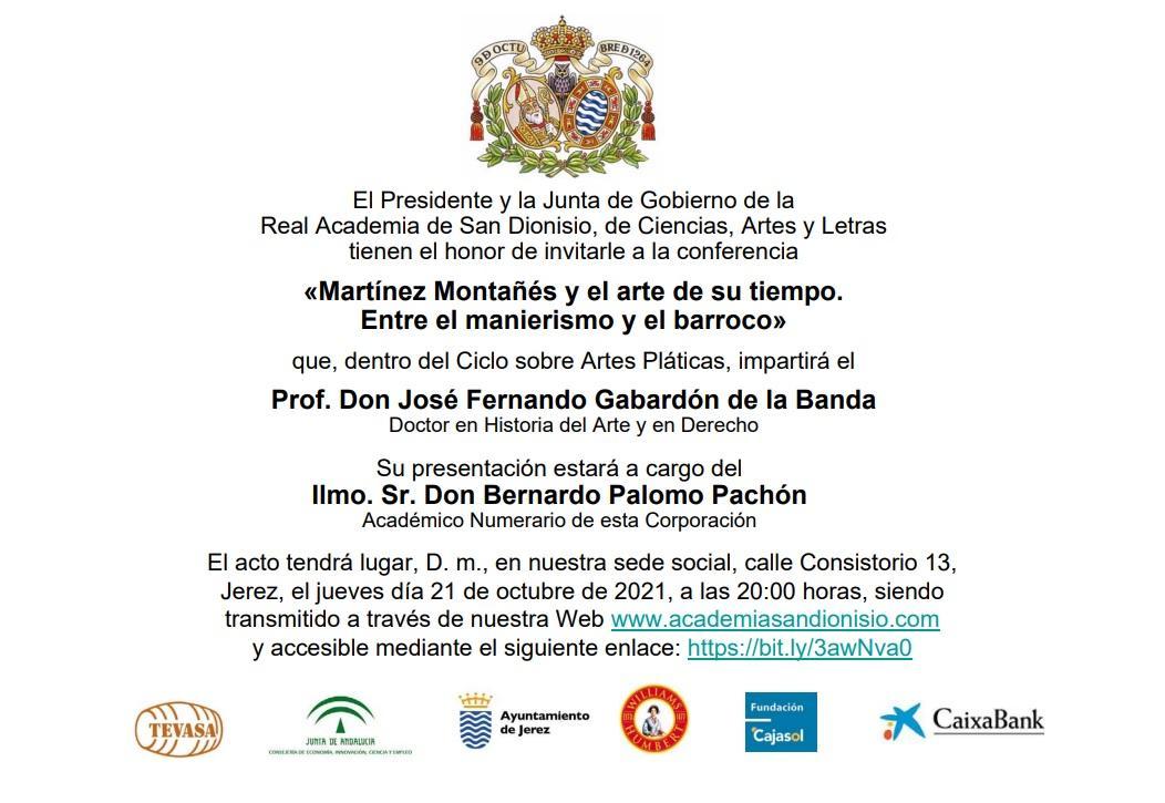 Interesante ponencia sobre Martínez Montañés, en la Academia San Dionisio