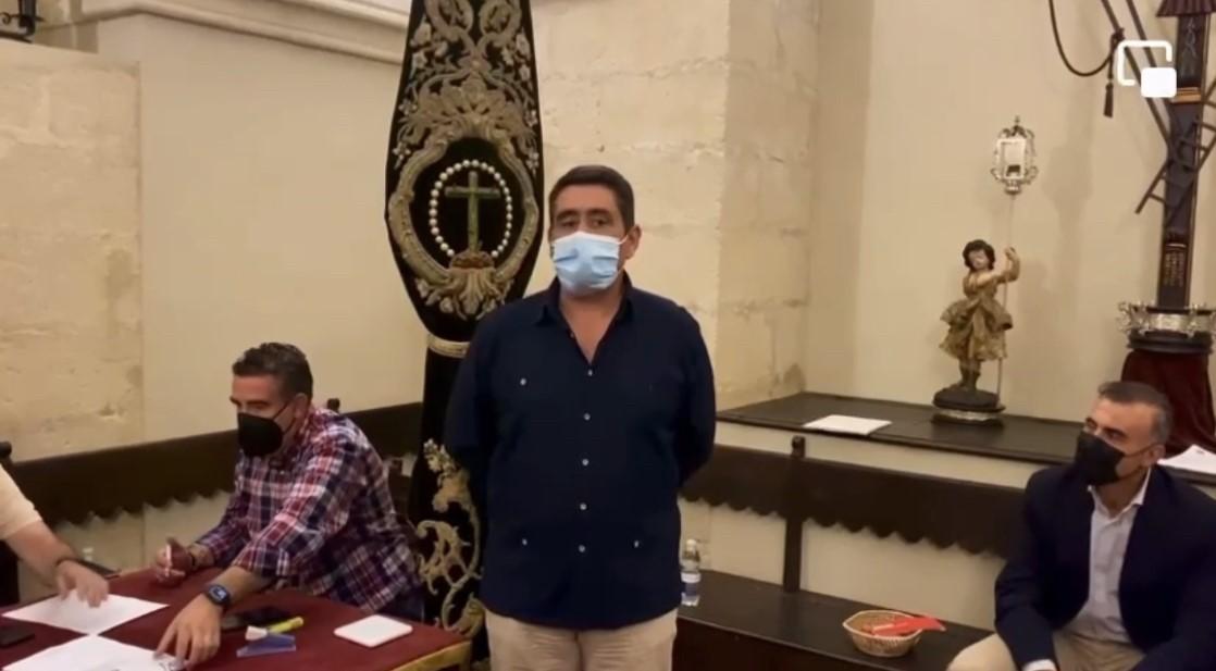 Manuel Báez, nuevo hermano mayor de la Vera Cruz