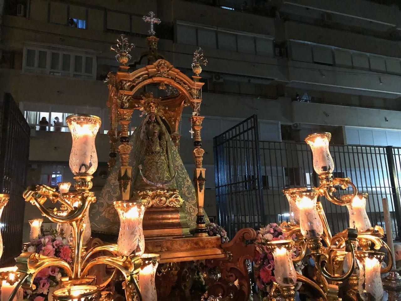 La Plazuela recuperó la normalidad, de la mano de la Virgen del Rosario
