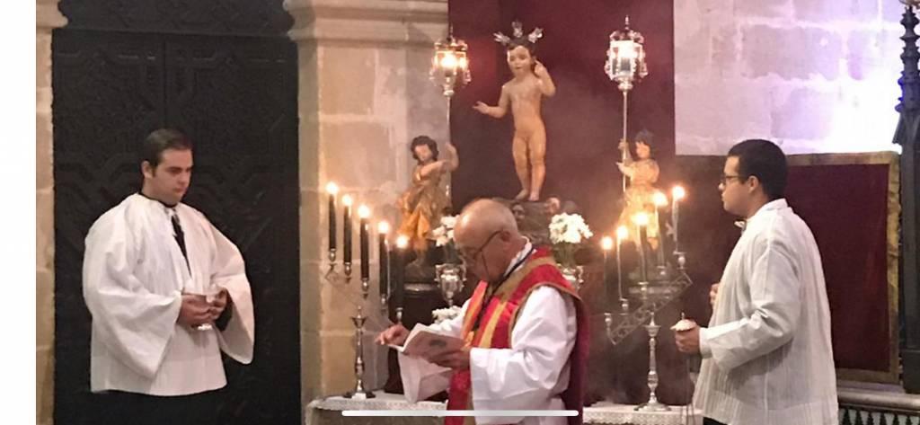 Restaurado el Niño Jesús de la Hermandad de la Vera Cruz