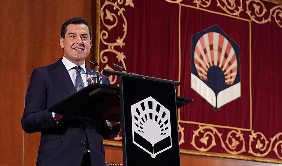 Juanma Moreno señala a las universidades como motores de la recuperación de Andalucía tras la pandemia