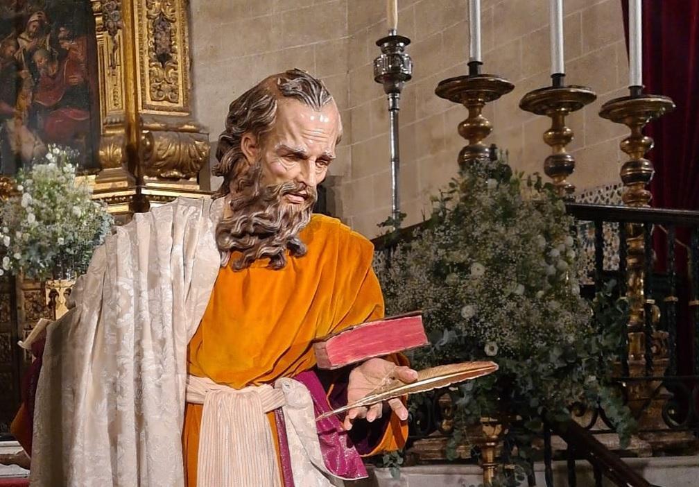 Veneración de la imagen de San Mateo, en la iglesia de San Marcos